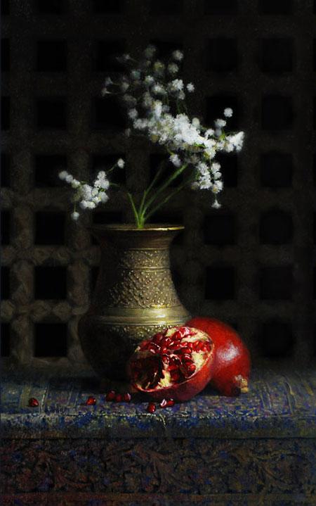 Dorian Iten, Patterns, oil on canvas, 2009