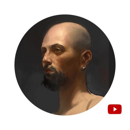 Digital Portrait Painting Sketch