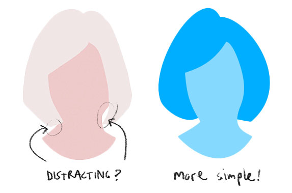 shape design distracting vs simple