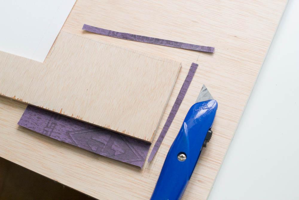 sharpening pad step 5: trim sandpaper