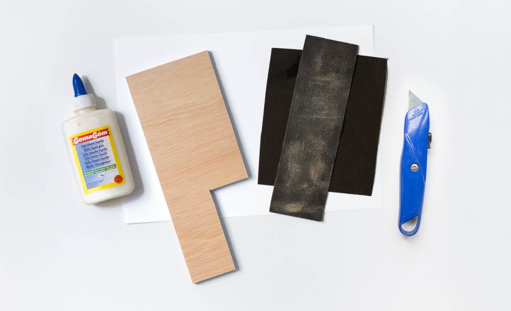 sharpening pad step 1: materials