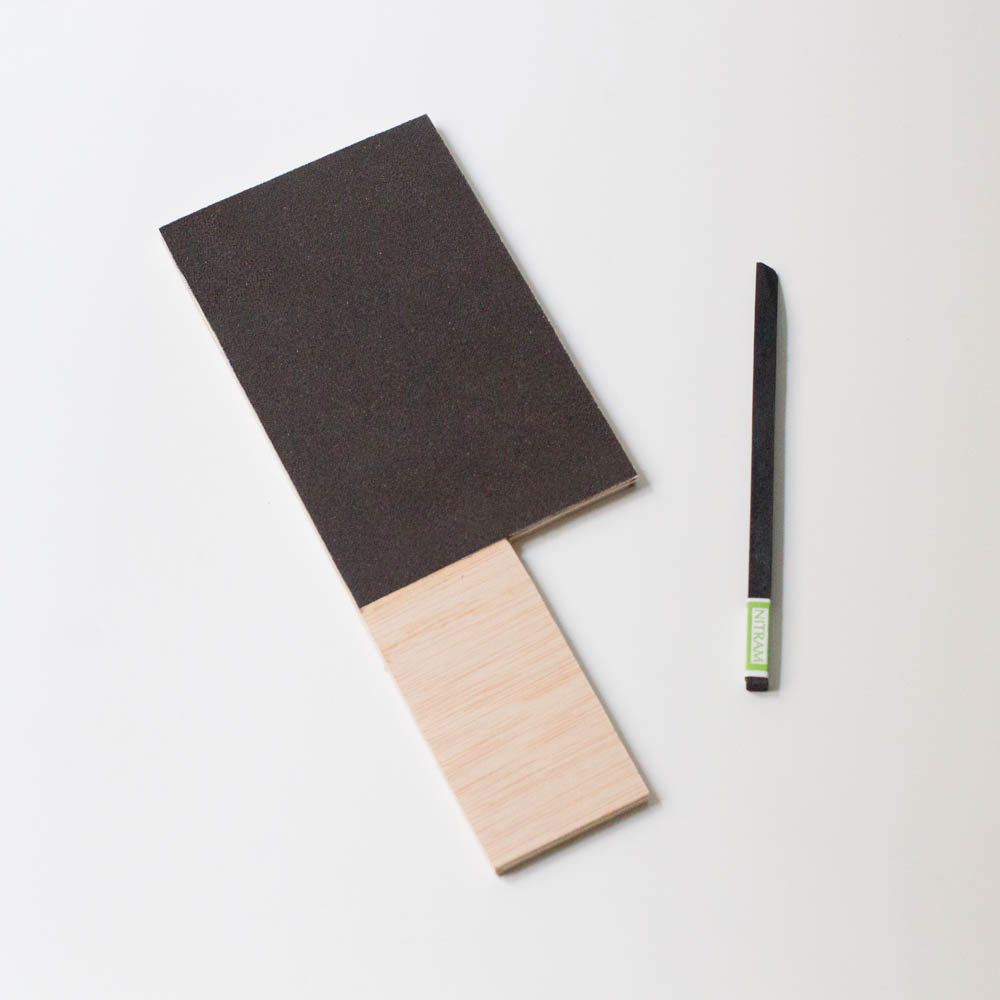 charcoal sharpening pad with nitram charcoal