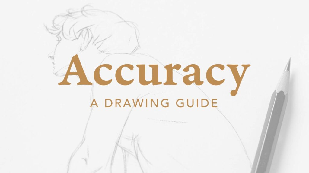 Product cover of the Accuracy Drawing Guide. Bargue drawing and a pencil.